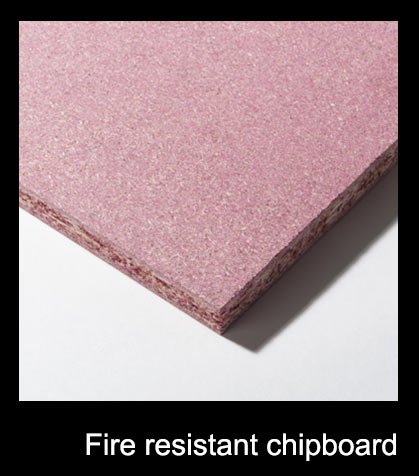 Fire resistant chipboard